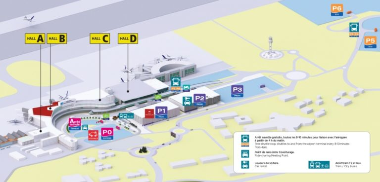 Plan-carte aéroport toulouse blagnac - parking P0